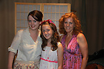 "Liz Keifer (Guiding Light ""Blake Marler"", OLTL ""Connie O'Neill  Vernon"", GH ""Sister Mary Camellia McKay"", Days ""Amy Cooper"", Y&R ""Angela Lawrence"" and Dallas poses with her niece Lucy and daughter Bella (R) as Bella stars in Mississippi Mud Productions presents a Mud Lab production of ""Cat On A Hot Tin Roof"" by Tennessee Williams, guided and directed by Austin Pendleton (One Life To Live) performed on July 24, 2011 (also 22nd and 23rd) at the Alexander Technique Center for Performance and Development in New York City, New York. (Photo by Sue Coflin/Max Photos)"