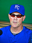 21 June 2010: Kansas City Royals manager Ned Yost is interviewed prior to a game against the Washington Nationals at Nationals Park in Washington, DC. The Nationals edged out the Royals 2-1 in the first game of their 3-game interleague series, snapping a 6-game losing streak. Mandatory Credit: Ed Wolfstein Photo