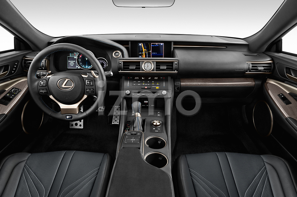 Stock photo of straight dashboard view of 2017 Lexus RC F-GT 2 Door Coupe Dashboard