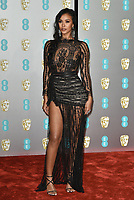 Maya Jama<br /> The EE British Academy Film Awards 2019 held at The Royal Albert Hall, London, England, UK on February 10, 2019.<br /> CAP/PL<br /> ©Phil Loftus/Capital Pictures