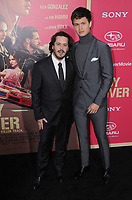 """14 June 2017 - Los Angeles, California - Edgar Wright, Ansel Elgort. Los Angeles Premiere of """"Baby Driver"""" held at the Ace Hotel Downtown in Los Angeles. Photo Credit: Birdie Thompson/AdMedia"""