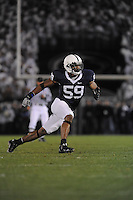 18 October 2008:  Penn State DE Aaron Maybin (59)..The Penn State Nittany Lions defeated the Michigan Wolverines 46-17 October 18, 2008 at Beaver Stadium in State College, PA..