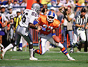 Denver Broncos Steve Atwater (27) during a game from his 1989 season with the Broncos. Steve Atwater played for 11 years with 2 different teams, was a 8-time Pro Bowler.