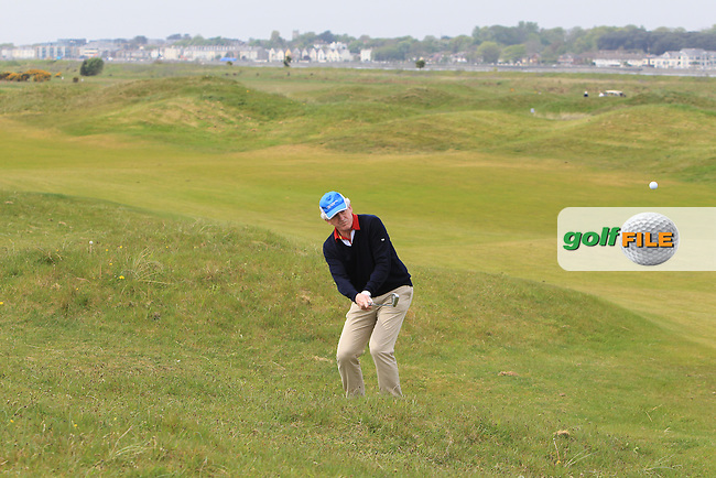 playing with Gary Murphy (Flogas Ambassador and former European Tour player) on the 7th during the Flogas Irish Amateur Open Championship Am-Am at Royal Dublin on Monday 9th May 2016.<br /> Picture:  Thos Caffrey / www.golffile.ie