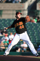 Rochester Red Wings Pitcher Anthony Swarzak (40) during a game vs. the Charlotte Knights at Frontier Field in Rochester, New York;  June 17, 2010.   Charlotte defeated Rochester by the score of 9-2.  Photo By Mike Janes/Four Seam Images