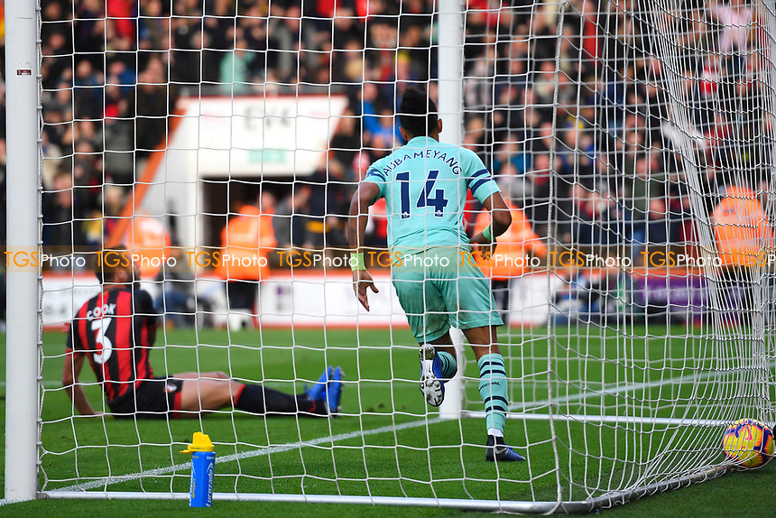 Pierre-Emerick Aubameyang of Arsenal scores and celebrates during AFC Bournemouth vs Arsenal, Premier League Football at the Vitality Stadium on 25th November 2018