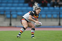 Picture by Paul Currie/SWpix.com - 07/10/2017 - Rugby League - Women's Super League Grand Final - Bradford Bulls v Featherstone Rovers - Regional Arena, Manchester, England - Amy Hardcastle of Bradford Bulls scores a try