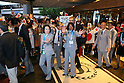 (L to R) <br /> Seiko Hashimoto, <br /> Mikako Kotani, <br /> SEPTEMBER 7, 2013 : <br /> Tokyo 2020 Bib Comittee to depart for the presentation <br /> at the Sheraton hotel in Buenos Aires Argentina, <br /> (Photo by YUTAKA/AFLO SPORT) [1040]