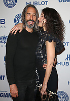 LOS ANGELES, CA - NOVEMBER 7: Lisa Edelstein, Robert Russell, at Photo Op For Hulu's 'Obey Giant at the The Theatre at Ace Hotel in Los Angeles, California on November 7, 2017. Credit: Faye Sadou/MediaPunch /NortePhoto.com