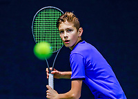 Hilversum, Netherlands, December 3, 2017, Winter Youth Circuit Masters, 12,14,and 16 years, Wester Klerk (NED)<br /> Photo: Tennisimages/Henk Koster