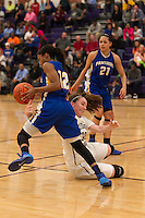 Pflugerville's Stephanie Onyeje steals the ball from Cedar Ridge's Courtney Brown Friday at Cedar Ridge.  The Panthers beat the Raiders 70-66.  (LOURDES M SHOAF for Round Rock Leader.)