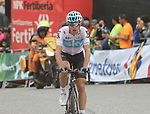 David De La Cruz (ESP) Team Sky crosses the finish line at the end of Stage 20 of the La Vuelta 2018, running 97.3km from Andorra Escaldes-Engordany to Coll de la Gallina, Spain. 15th September 2018.                   <br /> Picture: Colin Flockton | Cyclefile<br /> <br /> <br /> All photos usage must carry mandatory copyright credit (© Cyclefile | Colin Flockton)