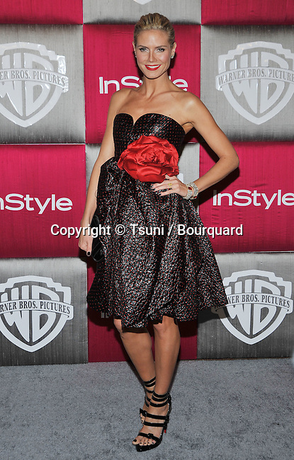 Heidi Klum -<br /> In Style Party after the Golden Globe Awards at the Beverly Hilton in Los Angeles.