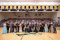 NWA Democrat-Gazette/BEN GOFF @NWABENGOFF<br /> Bentonville High Colors Day court poses for photos on Friday Jan. 15, 2016 in Bentonville's Tiger Arena.