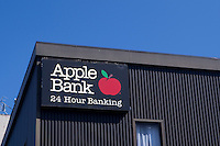 An Apple Bank branch is pictured in New York City, NY Monday August 1, 2011. The Apple Bank for Savings provides private and commercial banking services to the greater New York City area.