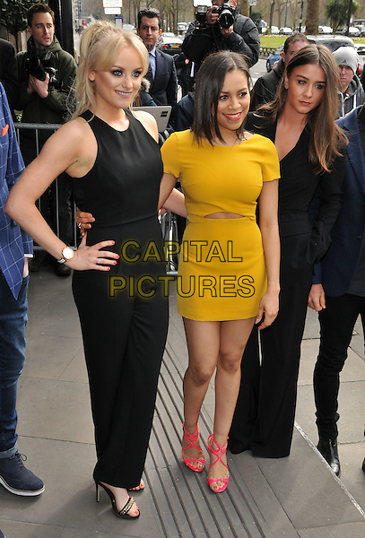 Katie McGlynn, Tisha Merry, Brooke Vincent attend the TRIC ( Television and Radio Industries Club ) Awards 2016, Grosvenor House Hotel, Park Lane, London, UK, on Tuesday 08 March 2016.<br /> CAP/CAN<br /> &copy;Can Nguyen/Capital Pictures