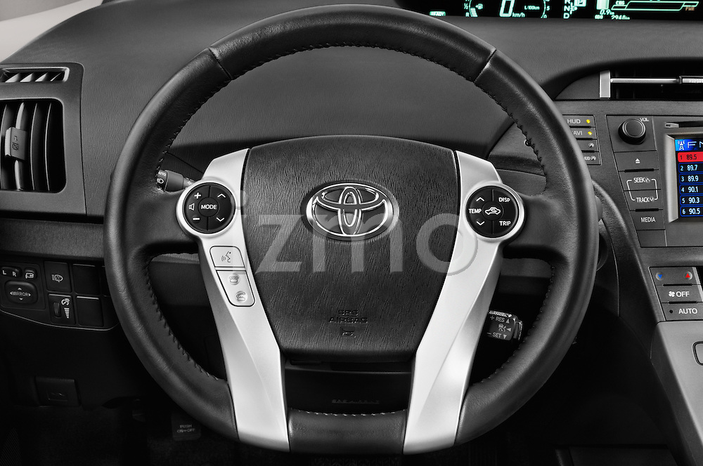 Car pictures of steering wheel view of a 2015 Toyota Prius Comfort 5 Door Hatchback Steering Wheel