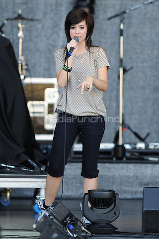 BOCA RATON, FL - JULY 28: Christina Grimmie performs at the Mizner Park Amphitheatre on July 28, 2011 in Boca Raton Florida. Credit: mpi04/MediaPunch
