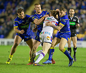 23rd March 2018, Halliwell Jones Stadium, Warrington, England; Betfred Super League rugby, Warrington Wolves versus Wakefield Trinity; Tom Johnstone  surrounded by Warrington players