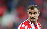 Stoke's Xherdan Shaqiri in action during the premier league match at the Britannia Stadium, Stoke on Trent. Picture date 9th September 2017. Picture credit should read: David Klein/Sportimage