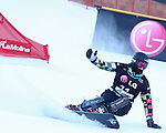 10.03.2012, La Molina, Spain. LG Snowboard FIS Wolrd Cup 2011-2012. Men's parallel giant slalom. Picture show Andrey Sobolev RUS