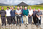Getting ready to tee it up for the Captains Prize in Waterville on Saturday last were l-r; Martin O'Shea, Stephen Donnelly, Alan Dwyer, Niall Fitzgerald, Tom O'Connell, Jim Browne, Hugh Mullins(Captain), Con McCarthy, Kevin O'Shea & Michael O'Sullivan(President).