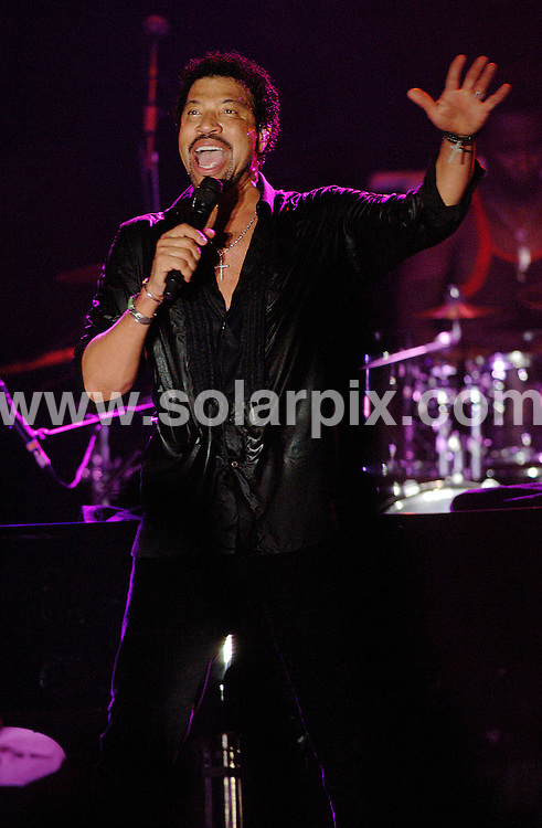**ALL ROUND PICTURES FROM SOLARPIX.COM**.**WORLDWIDE SYNDICATION RIGHTS**.Lionel Richie performs his first ever concert in Spain at the Puente Romano Hotel, Marbella, Spain, July 31 2007...This pic: Lionel Richie..JOB REF:  4489   JGS        DATE: 31_07_2007.**MUST CREDIT SOLARPIX.COM OR DOUBLE FEE WILL BE CHARGED* *UNDER NO CIRCUMSTANCES IS THIS IMAGE TO BE REPRODUCED FOR ANY ONLINE EDITION WITHOUT PRIOR PERMISSION*