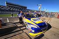 Feb 10, 2008; Daytona Beach, FL, USA; The car of Nascar Sprint Cup Series driver Michael Waltrip during qualifying for the Daytona 500 at Daytona International Speedway. Mandatory Credit: Mark J. Rebilas-US PRESSWIRE