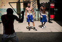 Cuban boxers are famous all over the world. They do not have fancy gyms, but they do work hard.