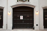 1850 / 1860 carriage door is seen on a Brooklyn Heights apartment in downtown Brooklyn, NY, Monday August 1, 2011.