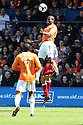 Claude Gnakpa of Luton wins a header during the Blue Square Premier play-off semi-final 2nd leg  match between Luton Town and York City at Kenilworth Road, Luton on Monday 3rd May, 2010..© Kevin Coleman 2010 ..