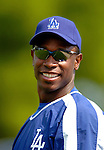 19 March 2006: Kenny Lofton, outfielder for the Los Angeles Dodgers, warms up prior to a Spring Training game against the Washington Nationals at Holeman Stadium, in Vero Beach, Florida. The Dodgers defeated the Nationals 9-1 in Grapefruit League play...Mandatory Photo Credit: Ed Wolfstein Photo..