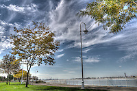 HDR Centennial Park landscape, clouds and St. Clair River