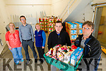 Tina Diggin, Talee International Resource Centre, Rob Carey, Foodshare, Catherine Quill, Saint Vincent DePaul, Pat Murphy Foodshare and Paddy Kevane Saint Vincent DePaul ar the Foodshare depot in Tralee.