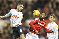 Preston North End's Alan Browne battles with  Nottingham Forest's Lewis Grabban<br /> <br /> Photographer Mick Walker/CameraSport<br /> <br /> The EFL Sky Bet Championship - Nottingham Forest v Preston North End - Saturday 8th December 2018 - The City Ground - Nottingham<br /> <br /> World Copyright © 2018 CameraSport. All rights reserved. 43 Linden Ave. Countesthorpe. Leicester. England. LE8 5PG - Tel: +44 (0) 116 277 4147 - admin@camerasport.com - www.camerasport.com
