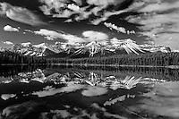 Herbert Lake reflection<br /> Banff National Park<br /> Alberta<br /> Canada