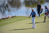 Tyrrell Hatton (ENG) looks over his chip on 18 during round 1 of the Arnold Palmer Invitational at Bay Hill Golf Club, Bay Hill, Florida. 3/7/2019.<br /> Picture: Golffile | Ken Murray<br /> <br /> <br /> All photo usage must carry mandatory copyright credit (&copy; Golffile | Ken Murray)