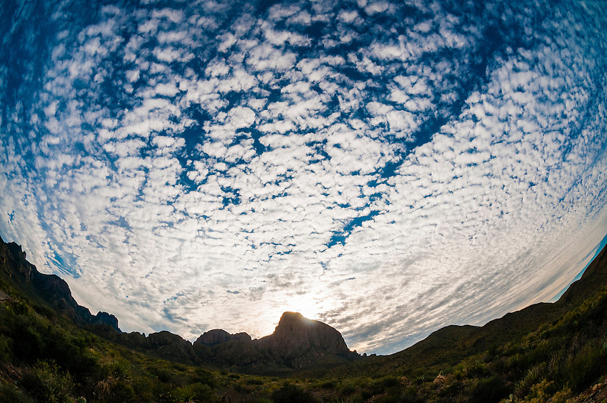 Chisos Mountains, Big Bend National Park, Texas USA.
