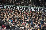 28.01.2018, HDI Arena, Hannover, GER, 1. Bundesliga, Hannover 96 - VfL Wolfsburg, im Bild 96 Fans mit Banner Kind muss weg<br /> <br /> Foto &copy; nordphoto / Dominique Leppin