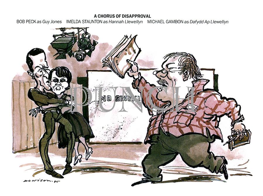 A Chorus of Disapproval. Bob Peck as Guy Jones, Imelda Staunton as Hannah Llewellyn, Michael Gambon as Dafydd Llewellyn