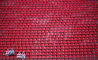 SAO PAULO, SP, 27 DEZEMBRO 2012 - JOGO DAS ESTRELAS - JOGO DOS ARTISTAS -  Torcedores isolados assistem partida do Jogo dos Artistas no Estadio Cicero Pompeu de Toledo (Morumbi) na regiao sul da capital paulista noite desta quinta-feira, 27. (FOTO: WILLIAM VOLCOV / BRAZIL PHTOTO PRESS).