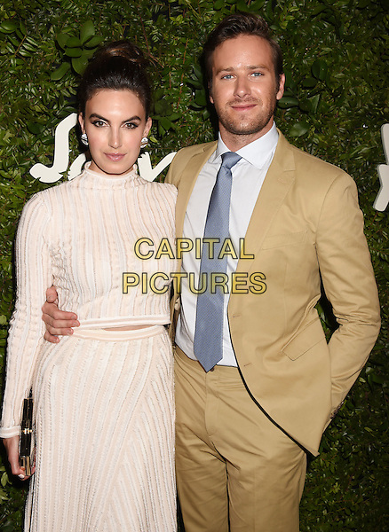 BEVERLY HILLS, CA - SEPTEMBER 09: Actors Elizabeth Chambers and Armie Hammer arrive at the Salvatore Ferragamo 100 Years In Hollywood celebration at the newly unveiled Rodeo Drive flagship Salvatore Ferragamo boutique on September 9, 2015 in Beverly Hills, California.<br /> CAP/ROT/TM<br /> &copy;TM/ROT/Capital Pictures