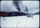 D&amp;RGW #483 &amp; #487 K-36's and Rotary OM. Gondola with rail fans.<br /> D&amp;RGW  Chama, NM