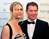 Stephanie March and Bobby Flay arrive at the Mayflower Hotel for the Capitol File Magazine party after the 2010 White House Correspondents Association Annual Dinner in Washington, D.C. on Saturday, May 1, 2010..Credit: Ron Sachs / CNP.(RESTRICTION: NO New York or New Jersey Newspapers or newspapers within a 75 mile radius of New York City)