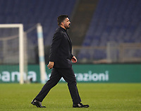 Football, Serie A: S.S. Lazio - Napoli, Olympic stadium, Rome, January 11, 2020.<br /> Napoli's coach Gennaro Gattuso at the end of the Italian Serie A football match between S.S. Lazio and Napoli at Rome's Olympic stadium, Rome , on January 11, 2020.<br /> UPDATE IMAGES PRESS/Isabella Bonotto