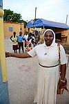 BURKINA FASO , Bobo Dioulasso, Good Shepherd Sisters / Die Schwestern vom Guten Hirten, Zentrum fuer Frauen und Maedchen, SR. YVONNE CLEMENCE BAMBARA