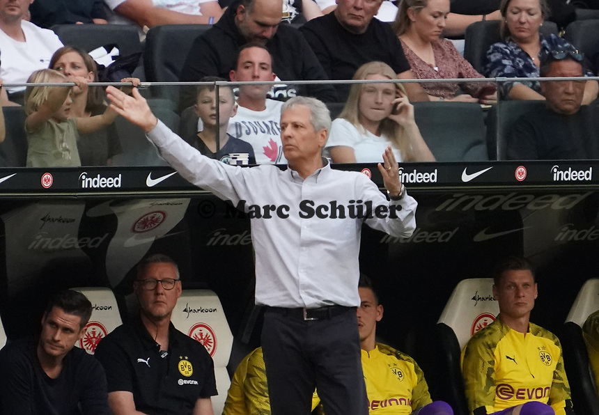 Trainer Lucien Favre (Borussia Dortmund) - 22.09.2019: Eintracht Frankfurt vs. Borussia Dortmund, Commerzbank Arena, 5. Spieltag<br /> DISCLAIMER: DFL regulations prohibit any use of photographs as image sequences and/or quasi-video.