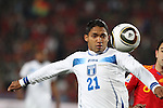 21 JUN 2010: Emilio Izaguirre (HON). The Spain National Team defeated the Honduras National Team 2-0 at Ellis Park Stadium in Johannesburg, South Africa in a 2010 FIFA World Cup Group H match.