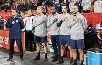 TORONTO, ON - OCTOBER 15: USMNT bench during a game between Canada and USMNT at BMO Field on October 15, 2019 in Toronto, Canada.