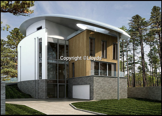 BNPS.co.uk (01202 558833)<br /> Pic: Lloyds/BNPS<br /> <br /> A CGI image of how one of the homes will look like. <br /> <br /> Two luxury homes squeezed onto a plot meant for one have gone up for sale for 13 million pounds - three times the value of the former property.<br /> <br /> A three bedroom house occupied the site on Sandbanks in Poole Harbour until it was bought for 4.25 million pounds and then promptly demolished.<br /> <br /> A development company decided to eke out every square inch of the plot by splitting it in two and building a pair of four storey beachfront houses worth 6.5 million pounds each.